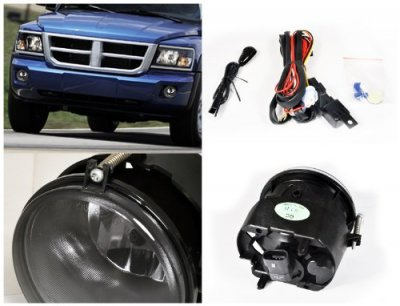 Dodge Dakota 2005-2009 Smoked OEM Style Fog Lights
