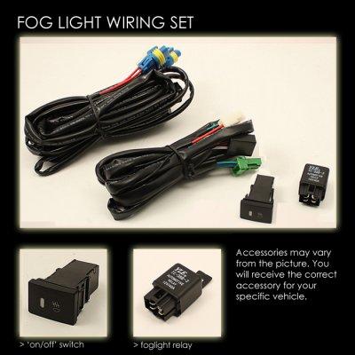 Toyota MR2 2000-2005 Clear OEM Style Fog Lights Kit on