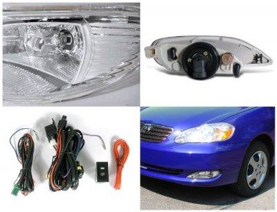 2007 Toyota Corolla Clear Fog Lights Kit