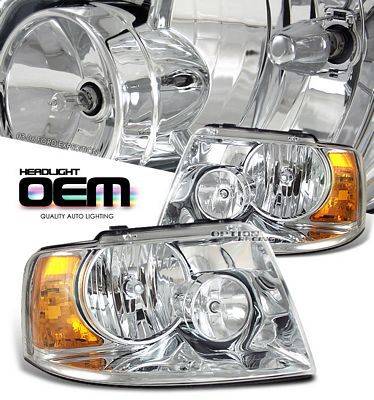 Ford Expedition 2003-2006 Clear Replacement Headlights