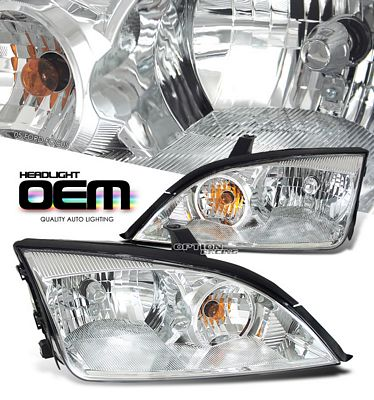Ford Focus 2005-2008 Clear Replacement Headlights