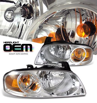 Nissan Sentra 2004-2006 Clear Replacement Headlights