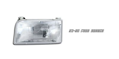 Ford Bronco 1992-1996 Left Driver Side Replacement Headlight