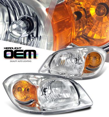 Chevy Cobalt 2005-2007 Clear  Replacement Headlights