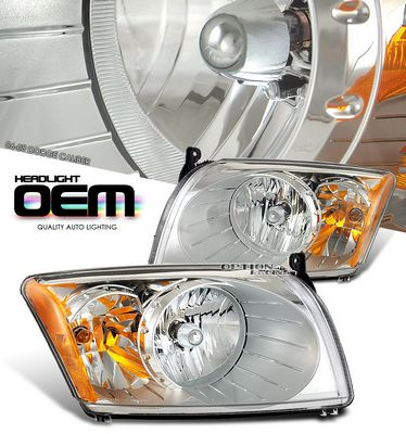 Dodge Caliber 2006-2008 Clear Replacement Headlights