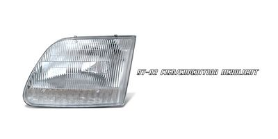 Ford F250 Light Duty 1997-1999 Left Driver Side Replacement Headlight