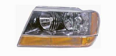 jeep grand cherokee black 1999 2002 left driver side replacement headlight a128mr83104. Black Bedroom Furniture Sets. Home Design Ideas