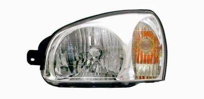 Hyundai Santa Fe 2003 Left Driver Side Replacement Headlight