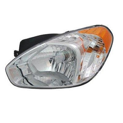2010 Hyundai Accent Left Driver Side Replacement Headlight