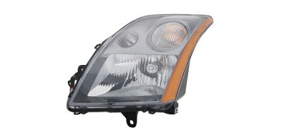 2009 Nissan Sentra Black Left Driver Side Replacement Headlight