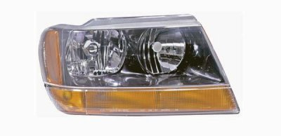 jeep grand cherokee black 1999 2002 right passenger side replacement headlight a128t8h5104. Black Bedroom Furniture Sets. Home Design Ideas