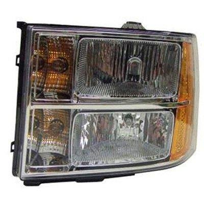 GMC Sierra 2007-2011 Left Driver Side Replacement Headlight