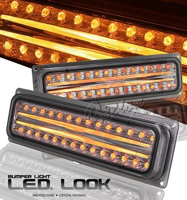 Chevy 1500 Pickup 1994-1998 Smoked LED Style Bumper Light