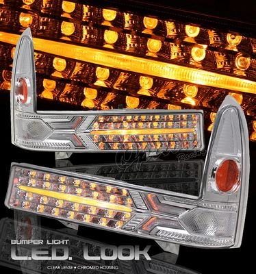 Ford F250 Super Duty 1999-2004 Clear LED Style Front Bumper Lights