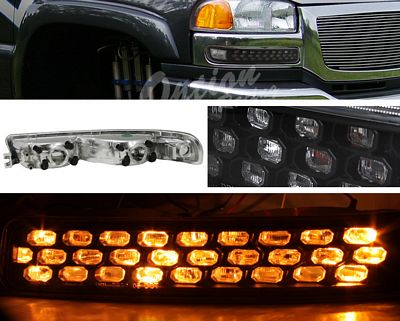 GMC Sierra 1999-2006 Black LED Style Bumper Light