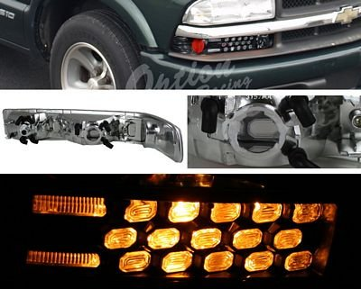Chevy S10 1998-2004 Black LED Style Bumper Light