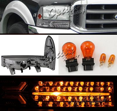 Ford F250 1999-2007 Smoked Bumper Light