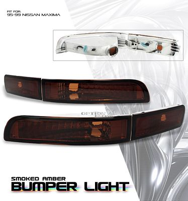 Nissan Maxima 1995-1999 Smoked Amber Front Bumper Lights
