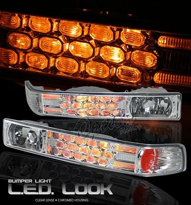 Chevy S10 1998-2004 Clear LED Style Bumper Light