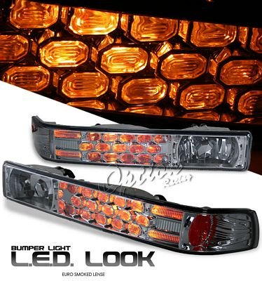 Chevy S10 1998-2004 Smoked LED Style Bumper Light