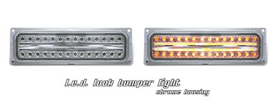 Chevy 2500 Pickup 1994-1998 Clear  LED Style Front Bumper Lights