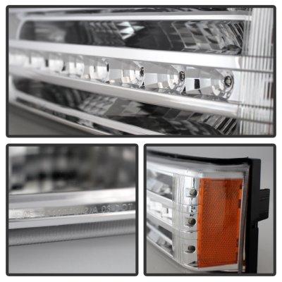 Chevy Silverado 2500HD 2003-2006 Clear LED Bumper Lights