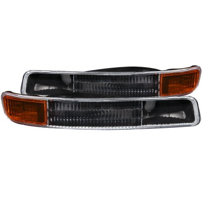 1999 GMC Sierra 3500HD Black and Amber Bumper Lights