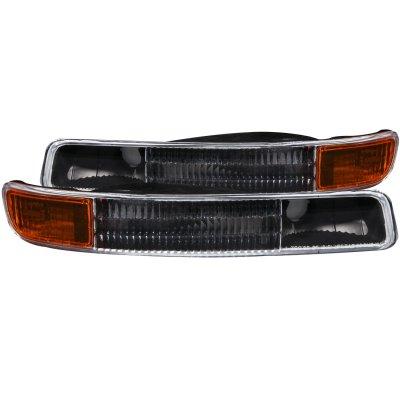 1999 GMC Sierra 3500HD Black and Amber Bumper Lights