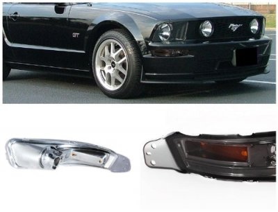 Ford Mustang 2005-2009 Smoked Front Bumper Lights