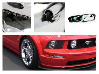 Ford Mustang 2005-2009 Chrome Bumper Lights
