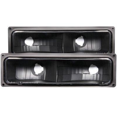 Chevy 1500 Pickup 1994-1998 Bumper Lights Black
