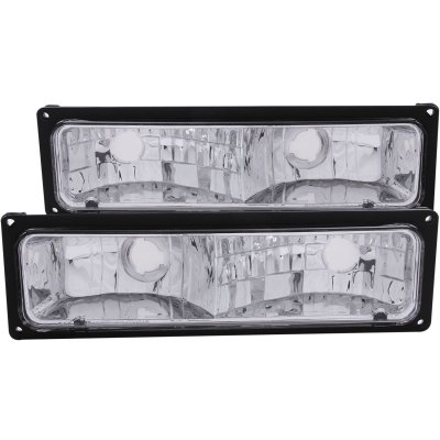 GMC Sierra 2500 1994-2000 Bumper Lights Chrome