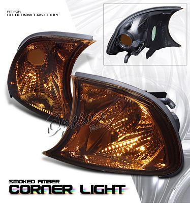 BMW E46 Coupe 3 Series 2000-2001 Smoked Corner Lights