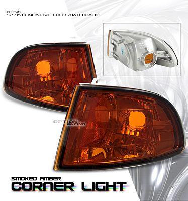 Honda Civic Hatchback 1992-1995 Smoked Amber Corner Lights