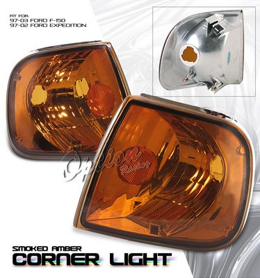 Ford Expedition 1997-2002 Amber Smoked Corner Lights