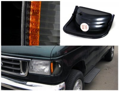 Ford Econoline Van 1992-2006 Black Corner Lights