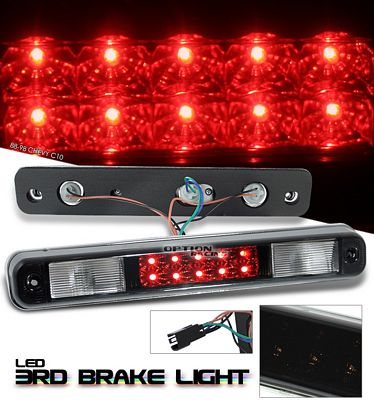 Chevy 1500 Pickup 1988-1998 Black LED Third Brake Light