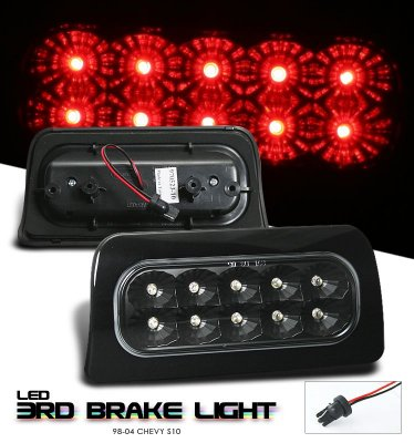 Chevy S10 1998-2004 Black LED Third Brake Light