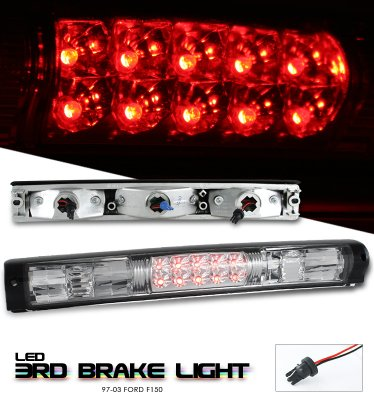 Ford F150 1997-2003 Clear LED Third Brake Light