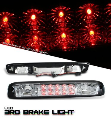 GMC Sierra 1999-2006 Clear LED Third Brake Light