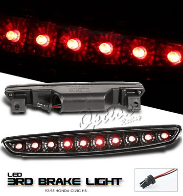 Honda Civic Hatchback 1992-1995 Black LED Third Brake Light