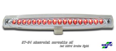 Chevy Corvette 1997-2004 Depo Clear LED Third Brake Light