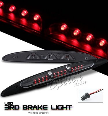 Ford Expedition 1997-2002 Black LED Third Brake Light