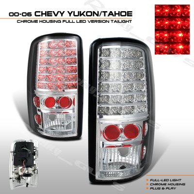 GMC Yukon 2000-2006 Clear LED Tail Lights
