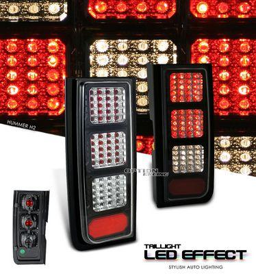 Hummer H2 2003-2006 Black LED Look Tail Lights