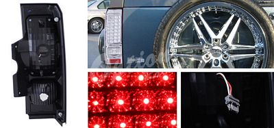 Hummer H3 2005-2008 Clear LED Tail Lights