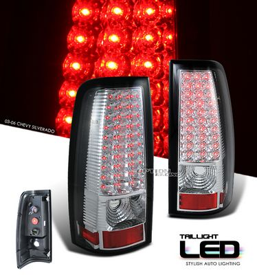 Chevy Silverado 1999-2006 Clear LED Tail Lights