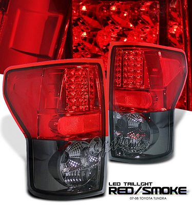 Toyota Tundra 2007-2011 Red and Smoked LED Tail Lights