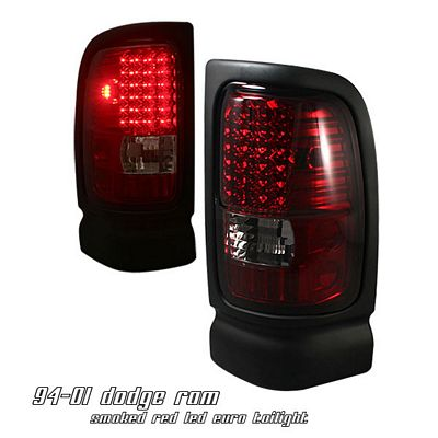 Dodge Ram 1994-2001 Red Smoked LED Tail Lights