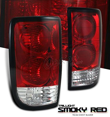 Chevy Blazer 1995 2004 Red Smoked Altezza Tail Lights